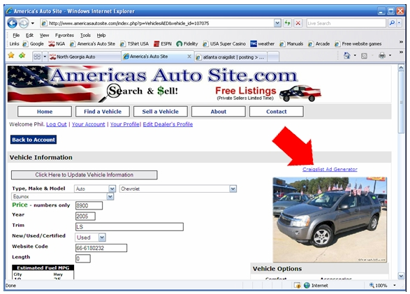 How to post vehicles on Craigslist